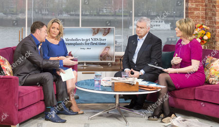 Paul Ross and Clare Muldoon with Eamonn Holmes and Ruth Langsford