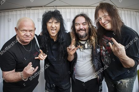 Udo Dirkschneider of Accept, Joey Belladonna, of Anthrax, Max Cavalera, of Soulfly and founder of Sepultura and Ross Friedman, founder of Manowar