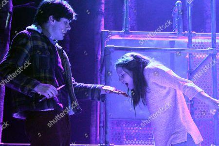 Martin Quinn as Jonny and Rebecca Benson as Eli