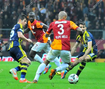 Editorial picture of Galatasaray v Fenerbahce, Turkish Super League football match, Istanbul, Turkey - 06 Apr 2014