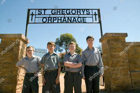 Stock Photo of December Boys, Lee Cormie, Christian Byers, James Fraser   Daniel Radcliffe