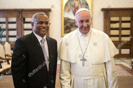 Editorial photo of Pope Francis meets Prime Minister of Cape Verde Jose Maria Neves at the Vatican, Rome, Italy - 03 Apr 2014