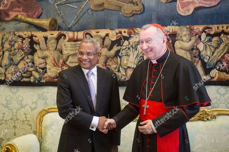 Editorial picture of Pope Francis meets Prime Minister of Cape Verde Jose Maria Neves at the Vatican, Rome, Italy - 03 Apr 2014