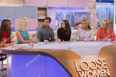 Carol Vorderman, Claire Richards, Adam Tann and wife Lauren, Patsy Kensit and Linda Robson.