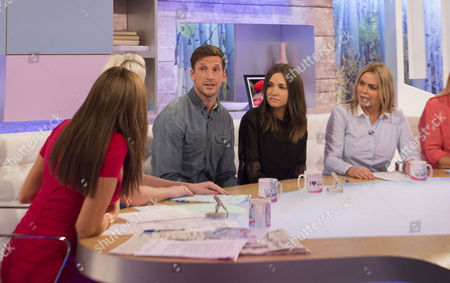 Carol Vorderman, Claire Richards, Adam Tann and wife Lauren and Patsy Kensit