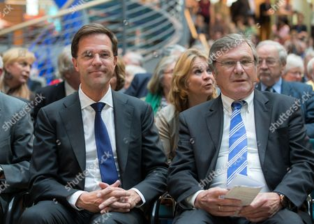Netherlands Prime Minister Mark Rutte, and Alexander Sebastian Léonce von der Wenge Graf Lambsdorff, Chairman of the FDP group in the European Parliament and candidate of the FDP for the European elections of 2014, and Dr. Wolfgang Gerhardt, Chairman of the Board of the Friedrich Naumann Foundation for freedom.