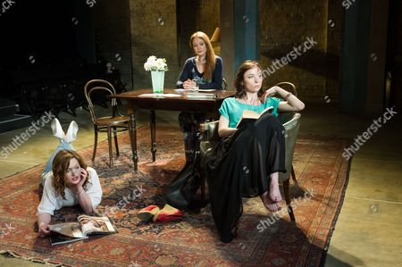 Holliday Grainger (Irina), Olivia Hallinan (Olga) and Emily Taaffe (Masha)