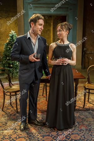 Paul McGann (Vershinen) and Emily Taaffe (Masha)