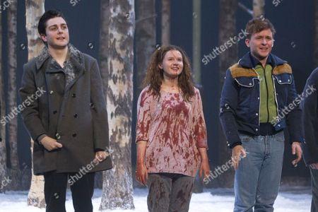 Martin Quinn (Oskar), Rebecca Benson (Eli) and Graeme Dalling (Jonny)