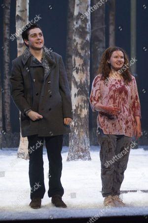 Martin Quinn (Oskar) and Rebecca Benson (Eli)