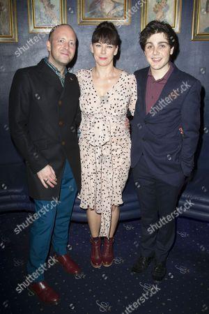 John Tiffany (Director), Susan Vidler (Oskar's Mum) and Martin Quinn (Oskar)
