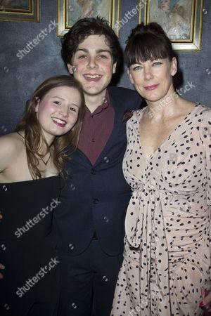 Rebecca Benson (Eli), Martin Quinn (Oskar) and Susan Vidler (Oskar's Mum)
