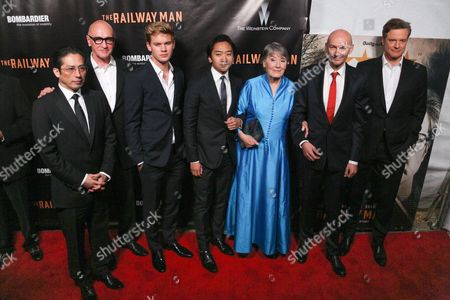 Hiroyuki Sanada, Chris Brown, Jeremy Irvine, Tanroh Ishida, Patti Lomax, Jonathan Teplitzky and Colin Firth
