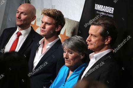 Jonathan Teplitzky, Jeremy Irvine, Patti Lomax and Colin Firth