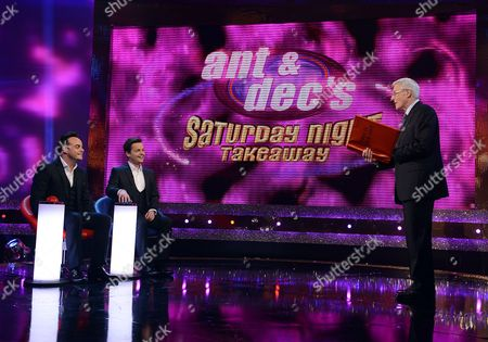 Anthony McPartlin and Declan Donnelly with Michael Aspel