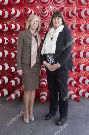 Italian Minister Stefania Giannini and European Commissioner for Research Innovation and Science, Maire Geoghegan Quinn
