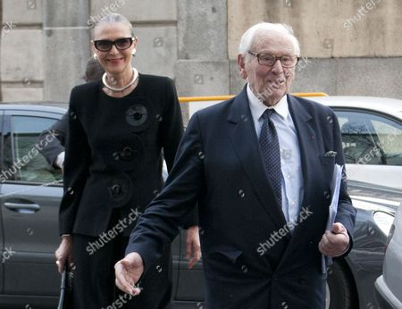 Maryse Gaspard and Pierre Cardin