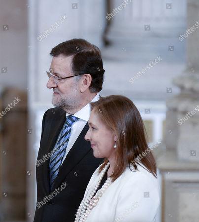 Stock Picture of Mariano Rajoy ; Elvira Fernandez