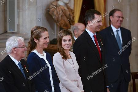 Princess Elena ; Crown Princess Letizia ; Crown Prince Felipe
