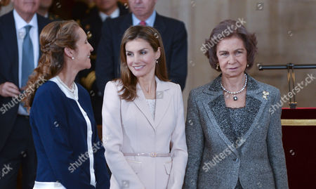 Princess Elena ; Crown Princess Letizia ; Queen Sofia