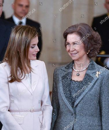 Crown Princess Letizia ; Queen Sofia