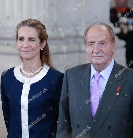 Princess Elena ; King Juan Carlos