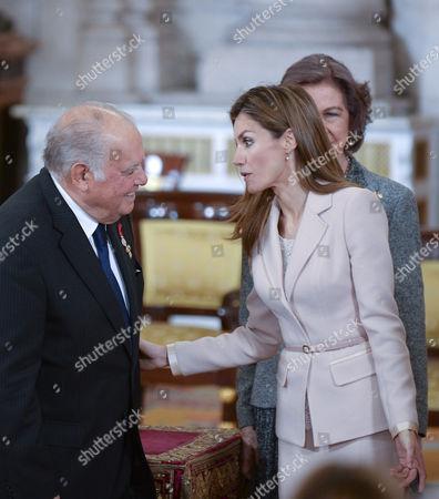 Stock Photo of Enrique V. Iglesias ; Crown Princess Letizia