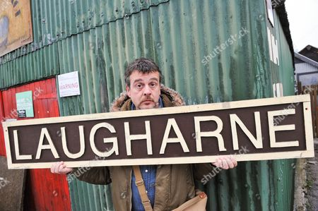 Crime writer Mark Billingham, Laugharne, Carmarthenshire, Wales