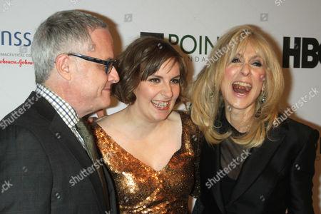 Neal Baer, Lena Dunham and Judith Light