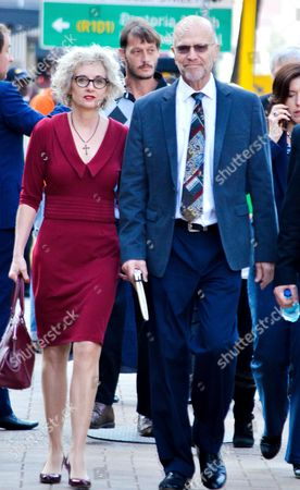 Aunt, Lois Pistorius and uncle, Arnold Pistorius arrive at the North Gauteng High Court for day 18 of the athlete's trial