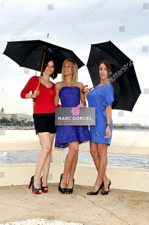 Stock Image of Claire Castel, Lola Reve and Jade Laroche