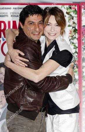 Emilio Solfrizzi and Stefania Rocca