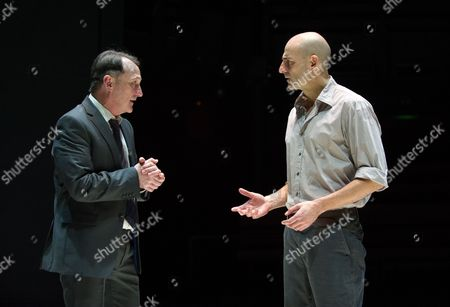Michael Gould (Alfieri) and Mark Strong (Eddie)
