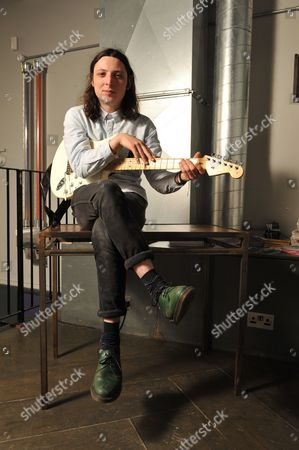 London United Kingdom - May 2: Guitarist Doug Castle Of English Indie Rock Group Peace Photographed Before A Performance In Birthdays In London On May 2