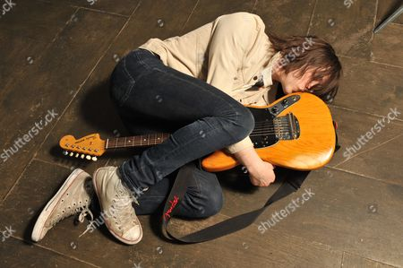London United Kingdom - May 2: Guitarist And Vocalist Harry Koisser Of English Indie Rock Group Peace Photographed Before A Performance In Birthdays In London On May 2