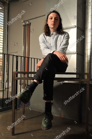 Stock Image of London United Kingdom - May 2: Guitarist Doug Castle Of English Indie Rock Group Peace Photographed Before A Performance In Birthdays In London On May 2