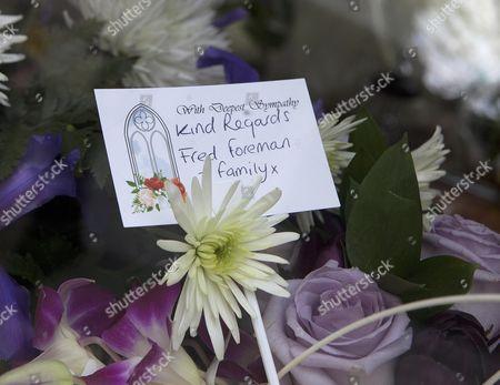 Bruce Reynolds Funeral. Flowers From Freddie Foreman.
