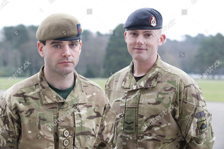 Editorial picture of Ministry Of Defence Operational Honours. Left To Right Captain John Scarlett Coldstream Guards And Lance Corporal Stephen Shaw Royal Army Medical Corps Both Military Cross Awards.