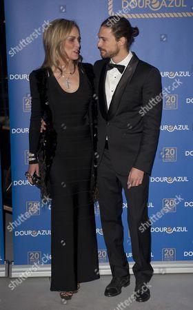 Actress Sharon Stone With Boyfriend Martin Mica In Porto To Help Launch A New Boat For A Portuguese River Cruise Company. 22.3.13 Reporter Alasdair Glennie.