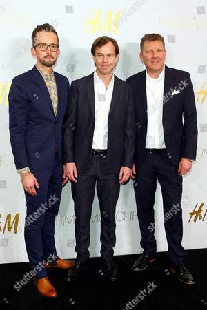 Stock Image of Thorsten Mindermann, Karl-Johan Persson (CEO H&M) and Jyrki Tervonen (CFO H&M)