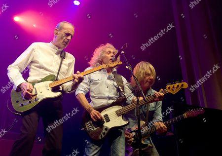 Stock Photo of Status Quo - Francis Rossi, Alan Lancaster and Rick Parfitt