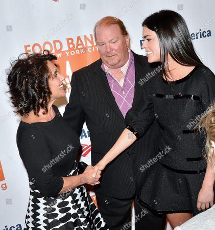 Stock Picture of Susi Cahn, Mario Batali and Katie Lee Joel