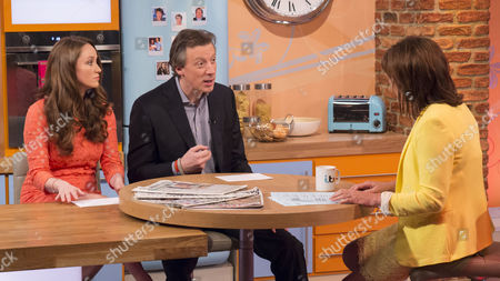 Martel Maxwell and Tom Newton-Dunn with Lorraine Kelly