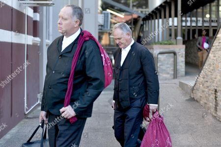 Stock Photo of Defence team - Advocate Kenny Oldwage and Advocate Barry Roux
