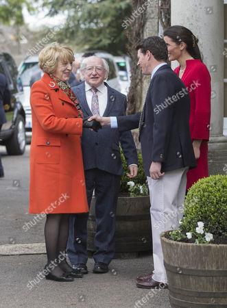 Sabina Coyne, Irish President Michael D Higgins, Andrew Balding and Anna-Lisa Balding