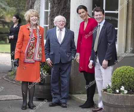Sabina Coyne, Irish President Michael D Higgins, Anna-Lisa Balding and Andrew Balding