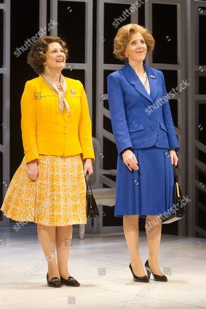 Lucy Robinson (Liz) and Fenella Woolgar (Mags)