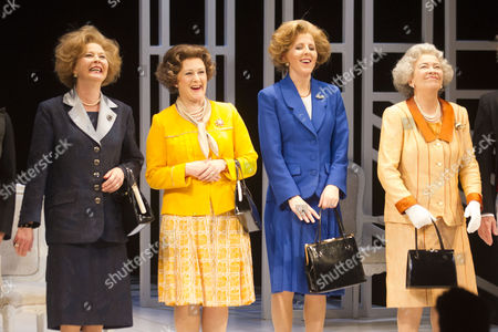 Lucy Robinson (Liz), Stella Gonet (T), Marion Bailey (Q) and Fenella Woolgar (Mags)
