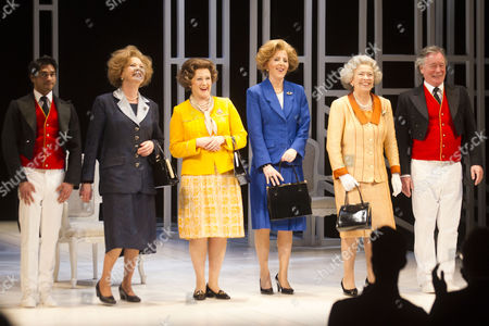 Neet Mohan (Actor 1), Lucy Robinson (Liz), Stella Gonet (T), Marion Bailey (Q), Fenella Woolgar (Mags) and Jeff Rawle (Actor 2)