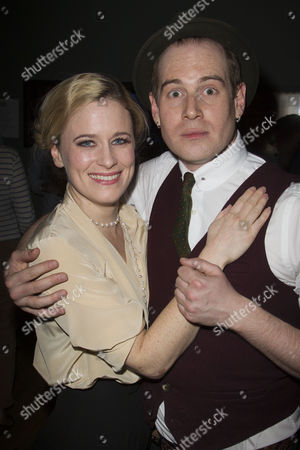 Katie Brayben (Sarah/Ghost/TV Producer) and Tom Robertson (Couttsey/Clive/Sir Michael)